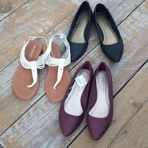 Bundle 3 pairs flats - 1 NWT & 2 EUC